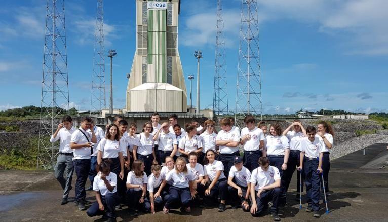 En Guyane, les volontaires ont assisté au décollage d'une fusée.