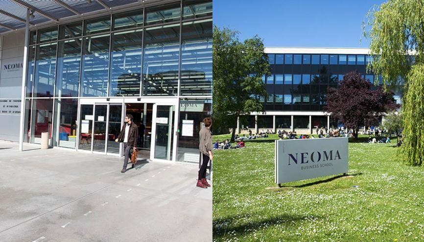 Les deux campus de Néoma BS, à Reims et Rouen. //©Neoma