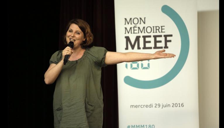 """Aude, gagnante de la première édition du concours """"Mon mémoire MEEF en 180 secondes"""", a travaillé sur l'impact de la musique sur l'apprentissage de la lecture."""