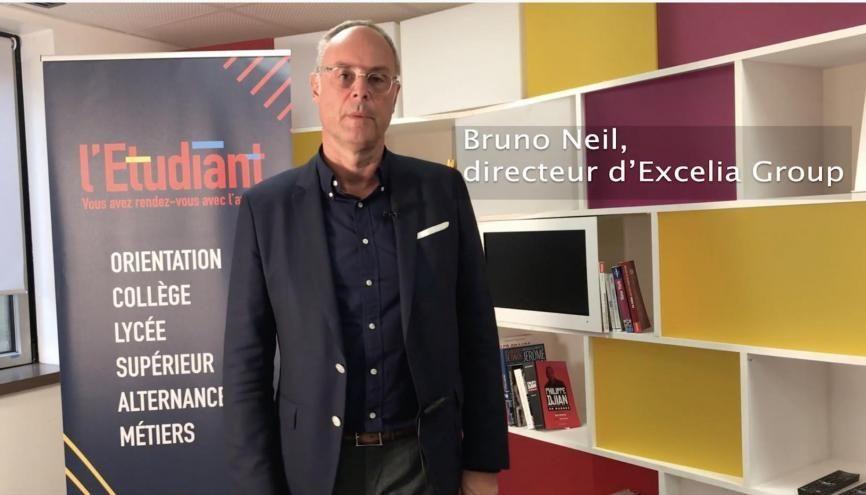Bruno Neil, directeur d'Excelia Group, est l'invité de la rédac. //©l'Etudiant