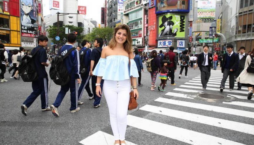 En plein cœur de son arrondissement préféré, Shibuya, Margaux aime en particulier le quartier branché de Harajuku, où se trouvent les petites boutiques excentriques. //©Kazuko Wakayama pour l'Etudiant