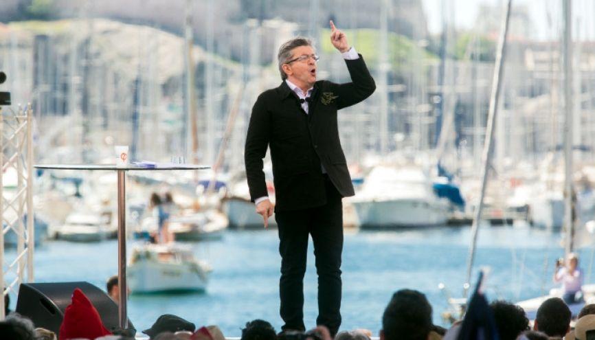 Jean-Luc Mélenchon ne veut pas de contrôle continu au baccalauréat. //©Ian Hanning / R.E.A