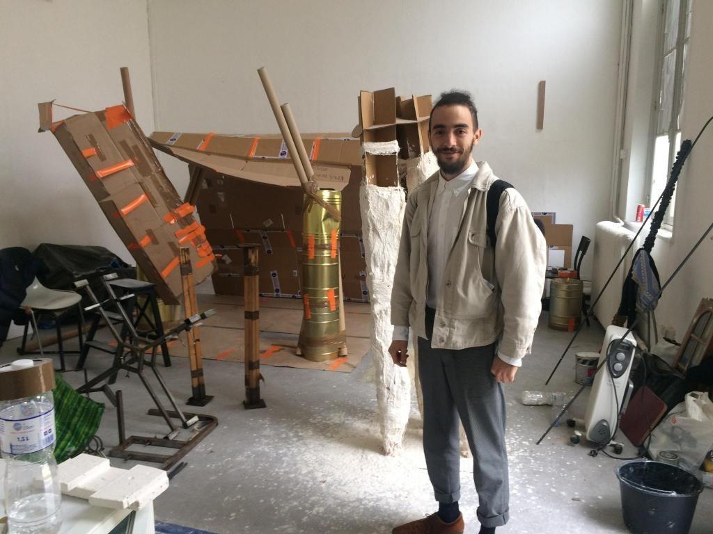 Aux Beaux-Arts de Paris, Farid a posé ses valises dans l'atelier Bojan Sarcevic. //©Martin Rhodes