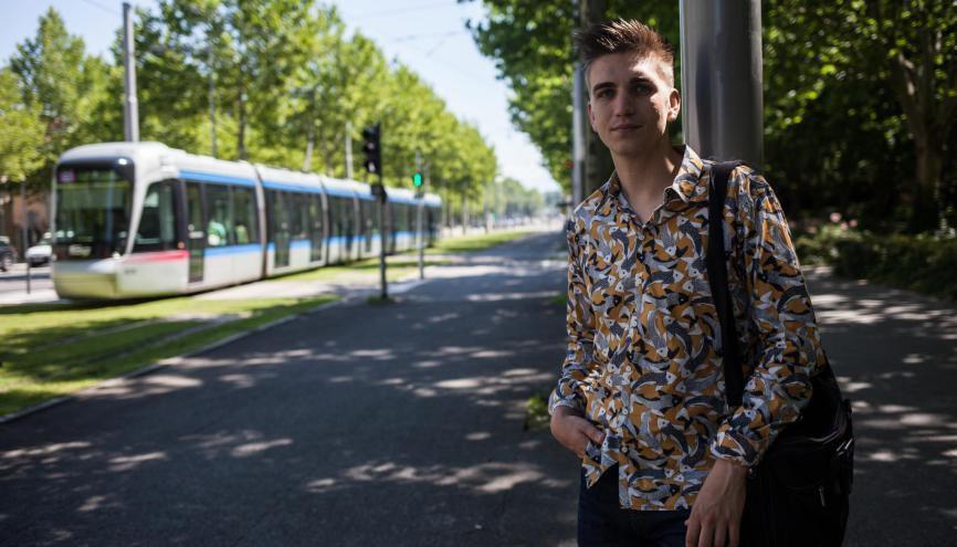 Pablo, 22 ans, en L3 sciences sociales, à l'université de Grenoble. //©Pablo Chignard/Hans Lucas pour l'Etudiant
