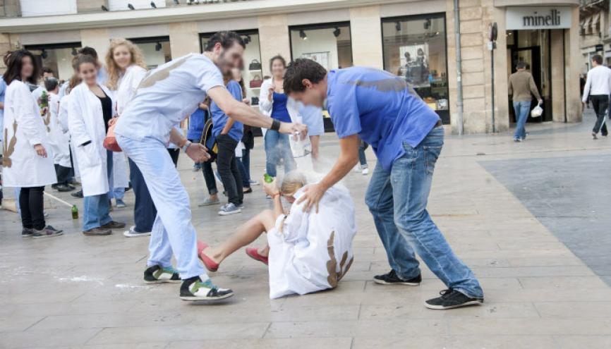 Le bizurage est un délit, puni de 6 mois de prison et de 7.500 € d'amende. //©Baptiste Fenouil/REA