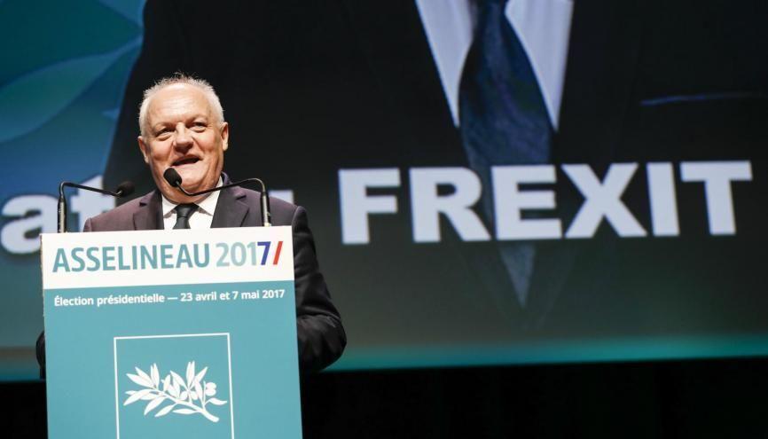 """François Asselineau, le candidat du """"Frexit"""" à la présidentielle 2017. //©Lydie Lecarpentier/REA"""