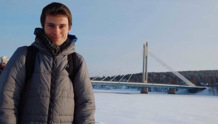 Étudiant à Sciences po Lille, Mathis s'est installé pour un an à l'université de Tampere, au nord d'Helsinki. //©Photo fournie par le témoin