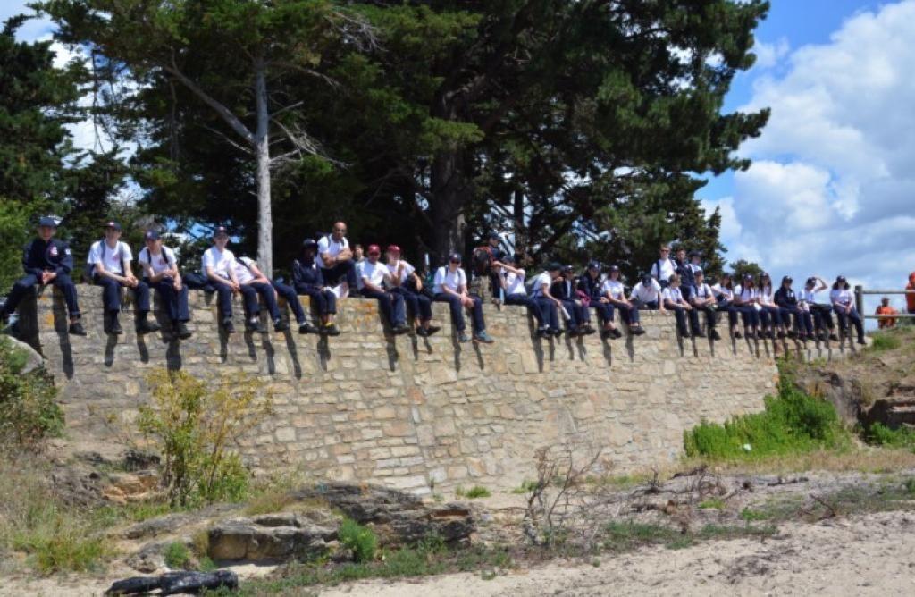 Les volontaires du SNU 2019, à Vannes, en Bretagne. //©Photo fournie par le témoin