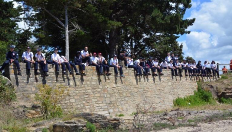Les volontaires du SNU 2019, à Vannes, en Bretagne.