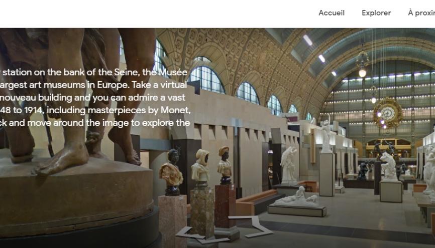 De très nombreux musées, comme celui d'Orsay à Paris, ont choisi de rendre accessibles en ligne la totalité ou une partie de leurs ressources. //©Musée d'Orsay / Google Arts & Culture
