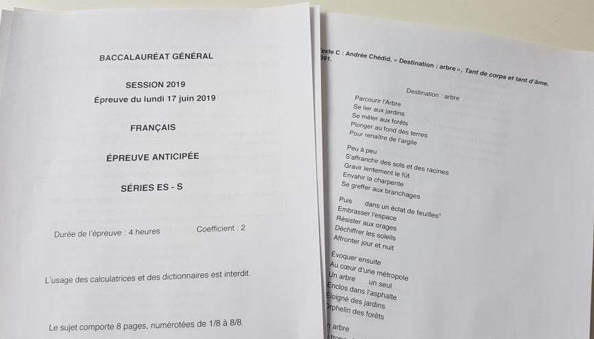 Au bac de français, les candidats ont dû commenter un poème d'Andrée Chedid jugé trop difficile. //©l'Etudiant