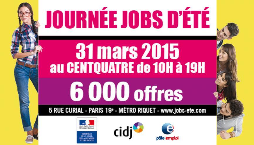 """La 22e """"Journée Jobs d'été"""" organisée par le CIDJ se déroulera le 31 mars 2015, à Paris //©CIDJ"""