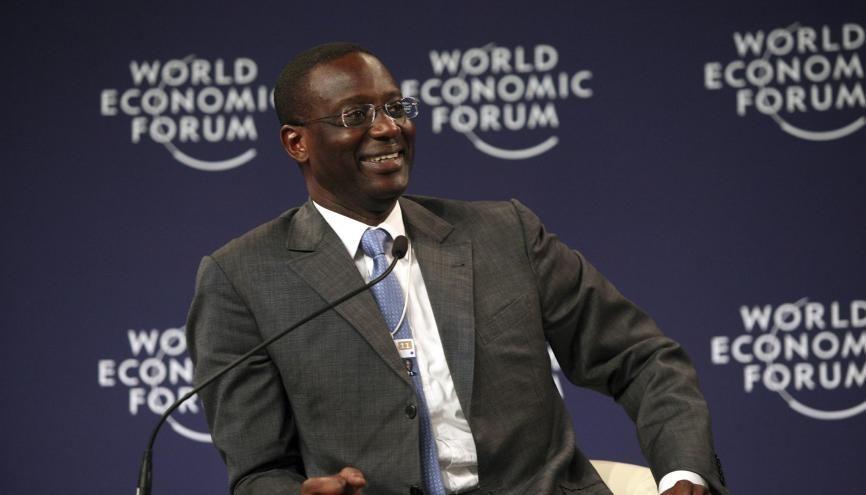 Tidjane Thiam, directeur général du Crédit suisse, a quitté la France pour l'Angleterre. //©World Economic Forum