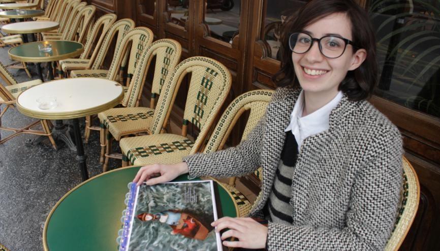 """Cécile Bidault, 23 ans, publiera sa première BD, """"L'Écorce des choses"""", à la rentrée 2017. //©Delphine Dauvergne"""