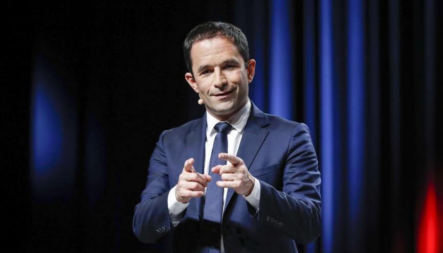 Benoît Hamon voudrait que, dès 2018, chaque jeune indépendant fiscalement de ses parents reçoive le RUE à partir de ses 18 ans. //©Lydie Lecarpentier/REA