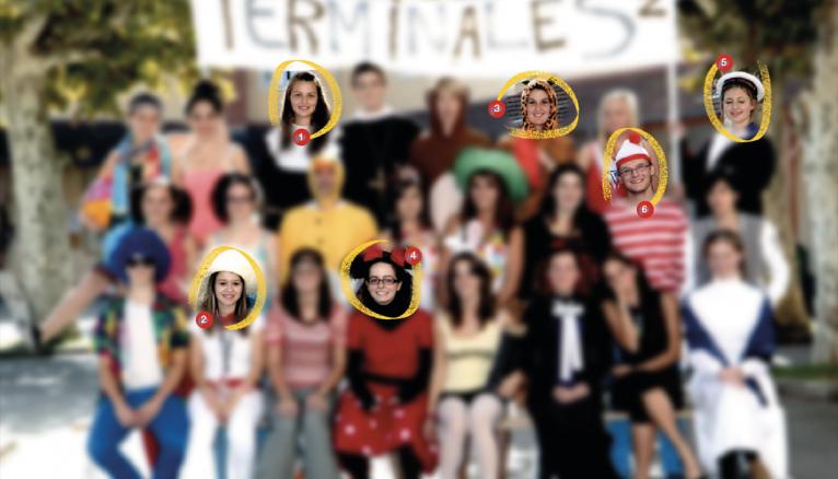 Les élèves de la terminale S, année 2012-2013, du lycée Alain-Fournier, à Mirande.