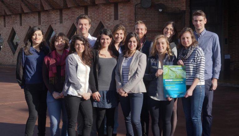 Les 12 étudiants en 3e année de l'ENSAIA organisateurs du colloque sur le thème du biocontrôle.