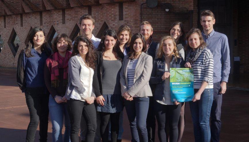 Les 12 étudiants en 3e année de l'ENSAIA organisateurs du colloque sur le thème du biocontrôle. //©Photo fournie par les témoins