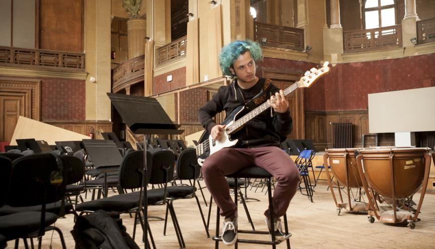 """Théo : """"J'étais quasiment nul en dictée musicale lors de mon entrée en section TMD."""" //©Valentine Vermeil pour l'Etudiant"""