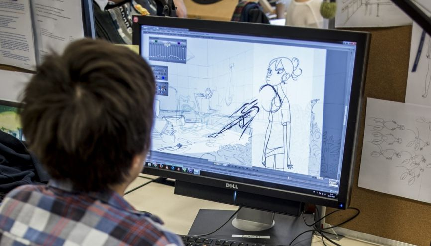 Très réputée dans le domaine de l'animation, Gobelins propose un Mastère Spécialisé  en jeux vidéo. //©Éric Garault pour l'Etudiant
