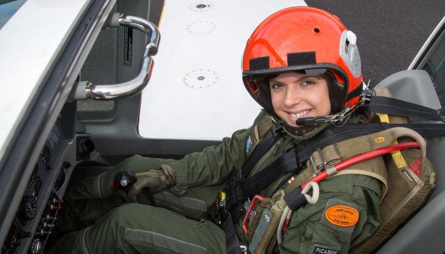 Victoria se prépare activement pour devenir pilote de chasse. //©C. Prioreschi-Drouin / Armée de l'air