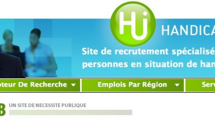 Handicap-job est un des sites spécialisés dans l'emploi des personnes ayant un handicap. //©Handicap job
