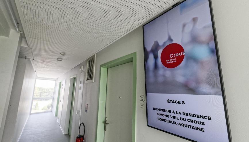 Les résidences universitaires proposent désormais de nombreux services aux étudiants. //©REA/Sebastien ORTOLA