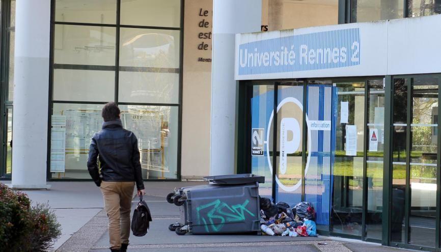 Bloquée, l'université Rennes 2 sera finalement fermée sur décision de son président jusqu'au 9 avril, premier jour des vacances de printemps. //©Guillaume Le Néouanic
