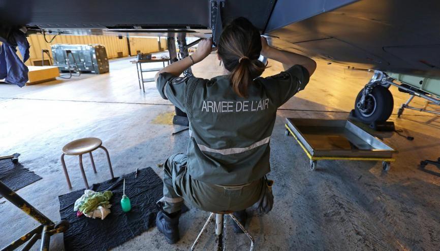 L'Armée de l'air française est l'armée la plus féminisée de l'Hexagone. //©Fred MARVAUX/REA