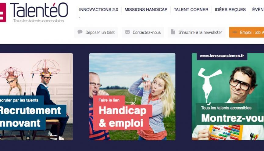 Talentéo, à la fois réseau social et site Internet, met en relation entreprises et jeunes diplômés handicapés //©Talenteo