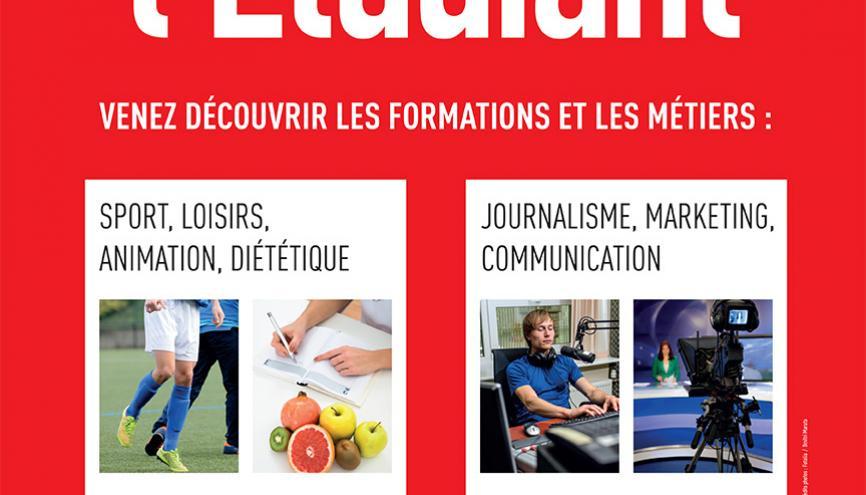 Affiche Rencontres de l'Etudiant Sports, loisirs, animations, communication, journalisme... //©l'Etudiant