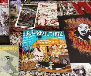 Stand Punkulture au festival international de la bande dessinée, à Angoulême, en janvier 2016.