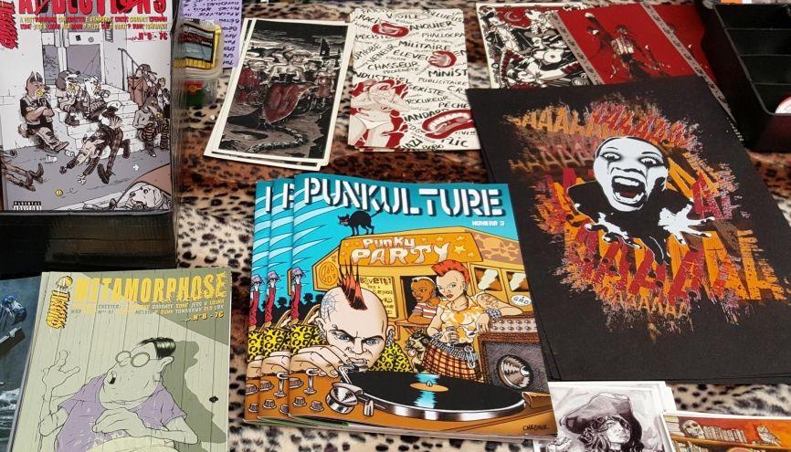 Stand Punkulture au festival international de la bande dessinée, à Angoulême, en janvier 2016. //©Natacha Lefauconnier