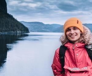 Paul-Adrien profite de ses études pour visiter les alentours du Québec.