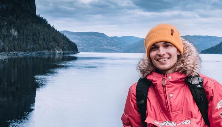 Paul-Adrien profite de ses études pour visiter les alentours du Québec. //©Photo fournie par le témoin