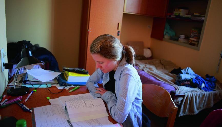 En prépa, le cadre de vie joue un rôle clé dans la réussite. Ici, l'internat du lycée Pierre-de-Fermat, à Toulouse (31), réservé aux préparationnaires. //©Christian Bellavia / Divergence pour l'Étudiant