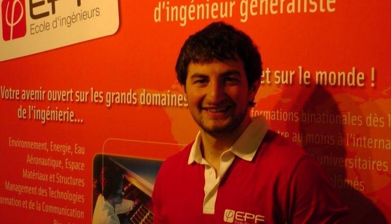 """""""Mickael, 22 ans, en 4e année à l'EPF Montpellier."""