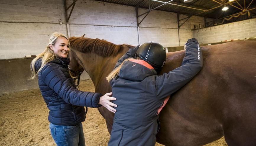 Pauline a commencé l'équitation à l'âge de 7 ans. //©Simon Lambert/Haytham pictures pour l'Etudiant