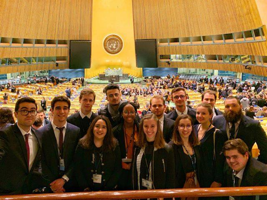 Des étudiants de l'ILERI qui ont participé à la simulation organisée à New York au siège de l'ONU. //©ILERI