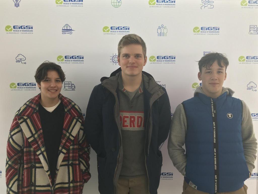 Maëlwenn, Clément et Lucas découvrent l'EIGSI pendant deux jours. //©Clément Rocher