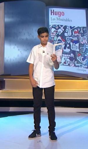 """Mohamed a ébloui le jury avec son interprétation de """"Sermons joyeux"""" de Jean-Pierre Siméon."""