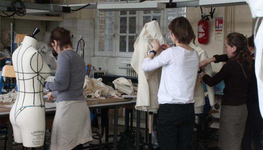 L'atelier modélisme de l'Ecole Duperré, à Paris. //©Sophie de Tarlé