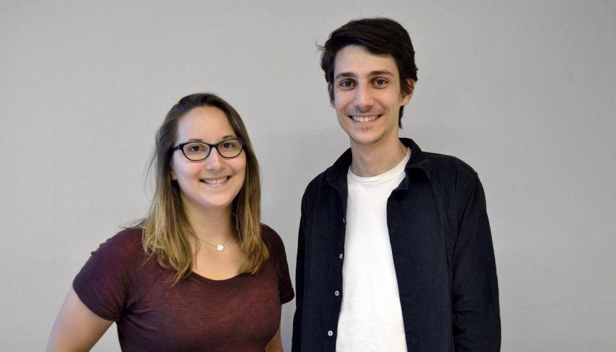 Julie Dautel et Cédric Tomissi développent un ballon photovoltaïque dans le cadre de leur start-up Zéphyr Solar. //©Zéphyr Solar