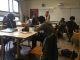 Les élèves de 3e4, en contrôle surprise en classe de techno, aux prises avec deux sujets de type brevet. //©Martin Rhodes