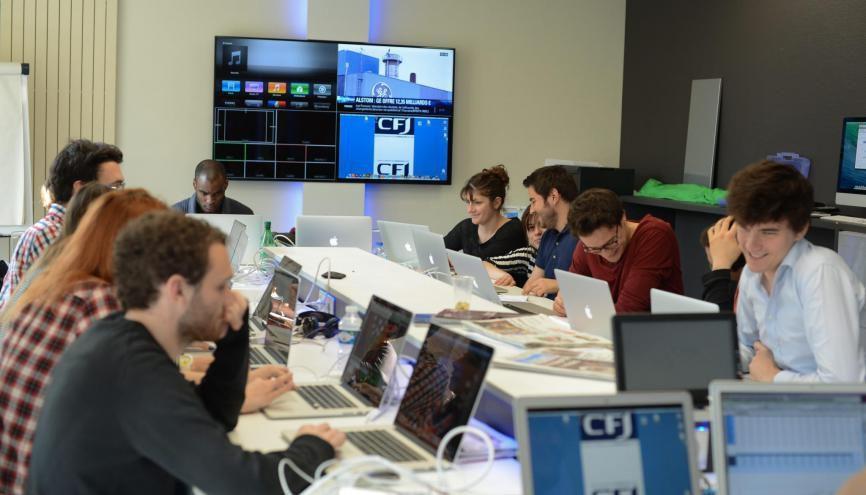 Au CFJ, la quasi-intégralité des cours est dispensée par des professionnels du secteur. //©CFJ