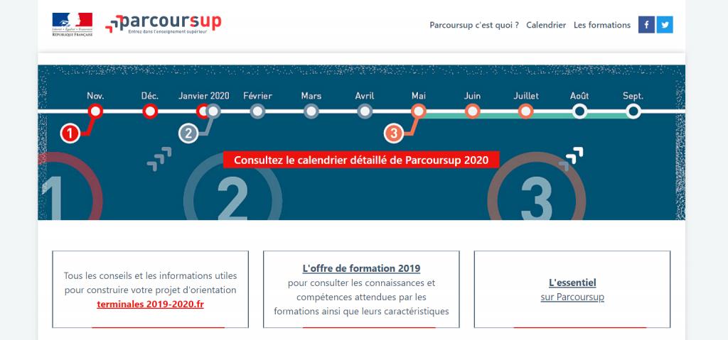 Lancé en 2018, Parcoursup a remplacé APB. //©parcoursup.fr