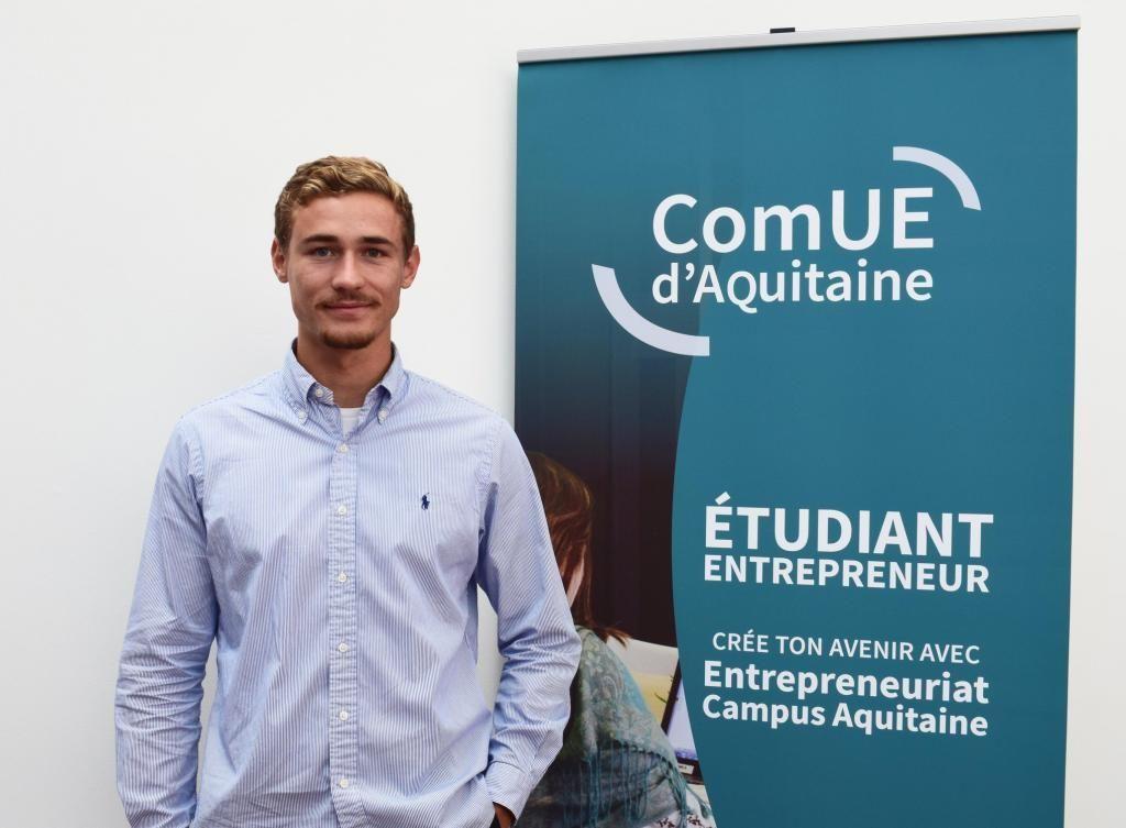Antonin Laurent tente de développer son projet LookUp en parallèle de la poursuite de ses études à l'université de Pau. //©Photo fournie par le témoin
