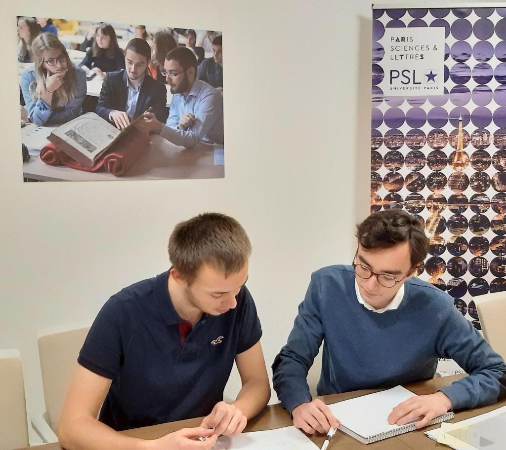 Germain L'Hostis et Arnaud Jégou, élus au conseil d'administration de l'université Paris Sciences et Lettres. //©Nelly Manoukian/ PSL