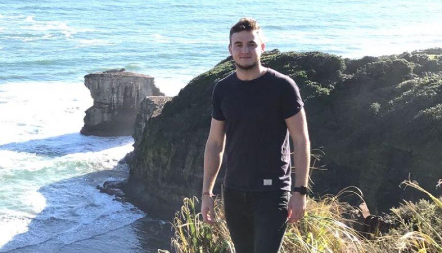 Charles a profité de son stage en Nouvelle-Zélande pour parcourir le pays en mode road trip. //©Fournie par le témoin
