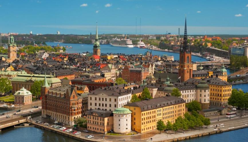 La qualité de vie et de l'enseignement dans les pays scandinaves (ici Stockholm en Suède) séduisent de plus en plus d'étudiants en échange Erasmus //©Fotolia
